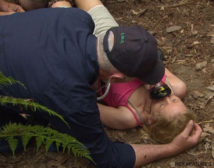 Gillian McKeith -Gillian McKeith rescued by medics during dramatic I