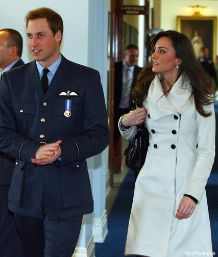 Young Prince William And Kate