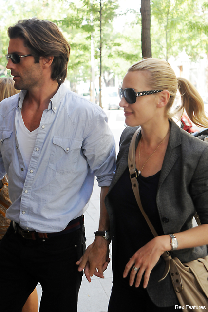 Kate Winslet's looking loved-up with new man in Madrid - Louis Dowler, model, Burberry, see, pics, pictures, out and about, new, boyfriend, girlfriend, relationship, celebrity, news, Marie Claire