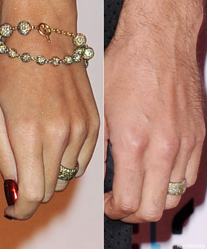 Russell Brand Katy Perry - PICS! Katy Perry and Russell Brand show off sparkling wedding rings - Russell Brand Katy Perry Wedding - Celebrity News - Marie Claire