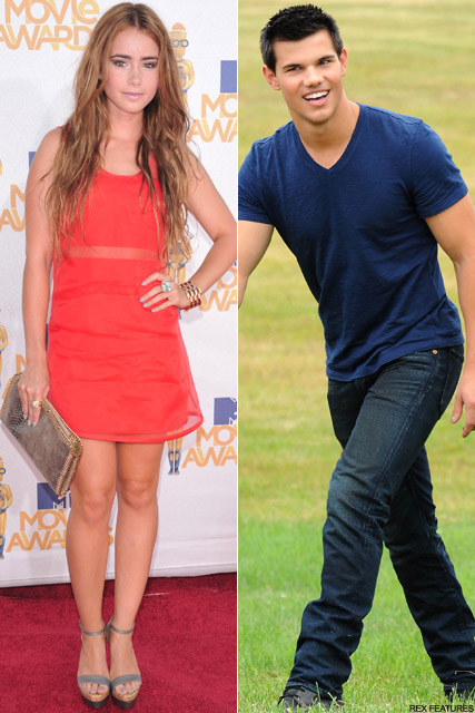 Lily Collins and Taylor Lautner - Taylor Lautner dating Lily Collins? - Twilight - Breaking Dawn - Celebrity News - Marie Claire