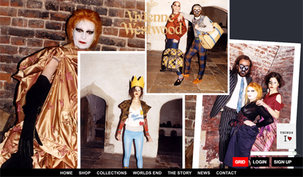 Vivienne Westwood website relaunches