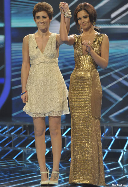 Cheryl Cole and Katie Waissel - X Factor - Katie Waissel and Wagner get the axe in shock double eviction X Factor show - XFactor - Katie Waissel - Wagner - Celebrity News - Marie Claire