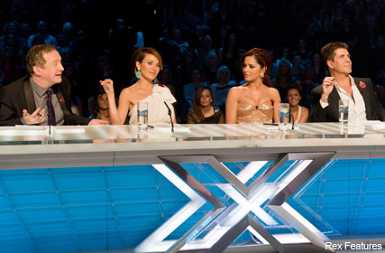 X Factor panel, judges, celebrity, Maire Claire