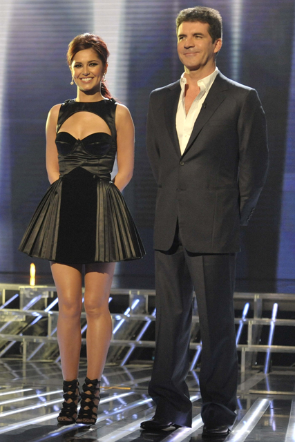 Cheryl Cole and Simon Cowell: Week two - X Factor 2010, live shows, fashion, style, judges, contestants, see. pics, weekend, week, round, finalists, news, Marie Claire