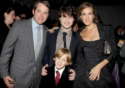 Matthew and James Broderick, Sarah Jessica Parker and Daniel Radcliffe at the Harry Potter premiere