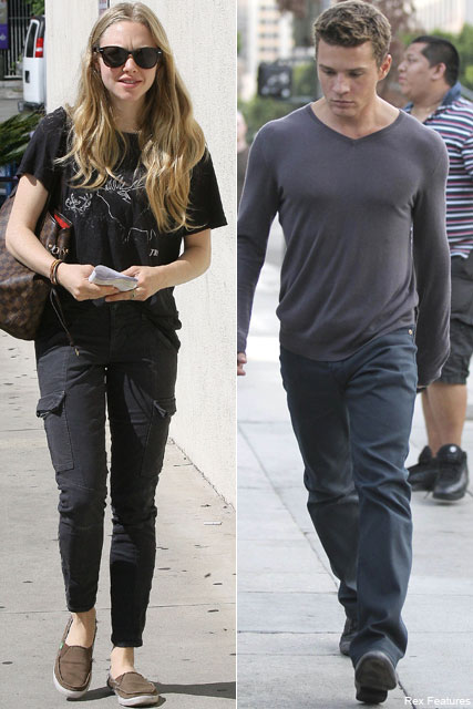 Amanda Seyfried and Ryan Phillippe - Amanda Seyfried and Ryan Phillippe romantic lunch date - Celebrity News - Marie Claire