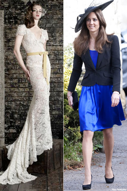 Kate Middleton and Bruce Oldfield - Kate Middleton Wedding Dress - Prince William and Kate Middleton - Prince William and Kate Middleton Wedding - Marie Claire