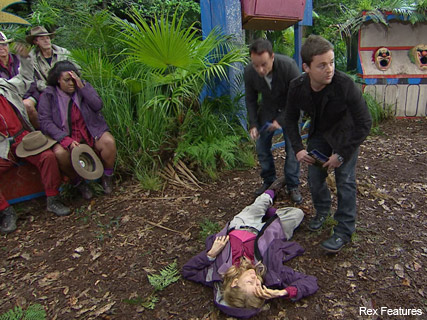 Gillian McKeith faints - I'm a Celeb, I'm a Celebrity Get Me Out of Here, faked, fainting, act, celebrity, news, gossip, Marie Claire