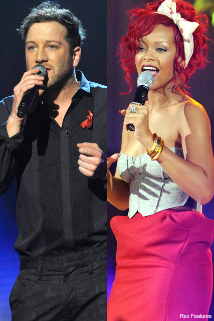 Matt Cardle and Rihanna - X Factor final duets, Marie Claire