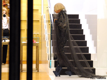 Lady Gaga - black, veil, gothic, bride, digital, death, corpse, style, Chanel, love or hate?, Marie Clarie