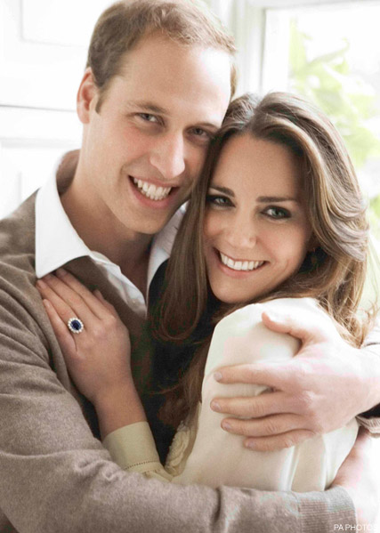 Prince William and Kate Middleton - FIRST LOOK! Prince William and Kate Middleton?s official engagement pictures - Prince William Wedding - Kate Middleton Style - Celebrity News - Marie Claire