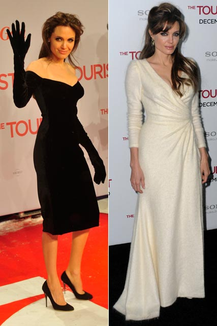 Angelina Jolie The Tourist premiere looks