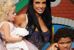 Katie Price, Princess and Harvey - hits back at Channel 4 Harvey joke