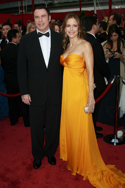 Marie Claire celebrity photos: The Oscars 2008, John Travolta and Kelly Preston
