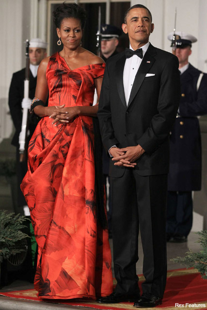 Michelle and Barack Obama - Alexander McQueen, Marie Claire