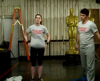 Anne Hathaway James Franco - WATCH! James Franco and Anne Hathaway's hilarious Oscar trailer - Oscars - Academy Awards - Oscars Trailer - Celebrity News - Marie Claire - Marie Claire UK