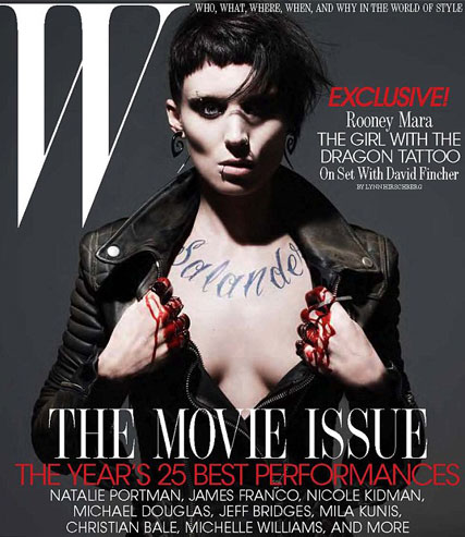 Rooney Mara - The Girl with the Dragon Tattoo - Marie Claire
