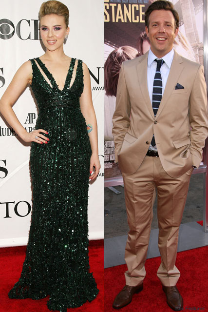 Scarlett Johansson Jason Sudeikis - Newly single Scarlett Johansson's secret dinner date with Jason Sudeikis - Newly single Scarlett Johansson dating Jason Sudeikis - Scarlett Johansson - Jason Sudeikis - Celebrity - Marie Claire - Marie Claire UK