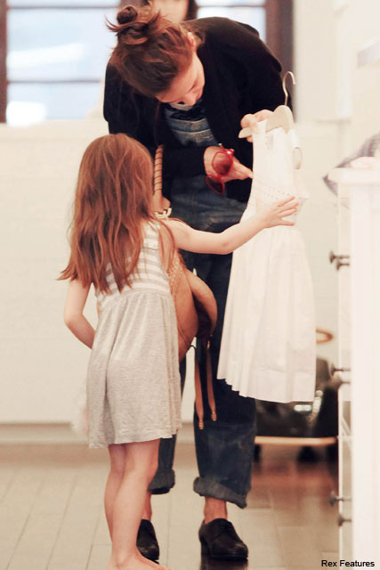 Katie Holmes and Suri Cruise - Katie Holmes speaks out on stylist Suri - Suri Cruise - Katie Holmes - Celebrity News - Marie Claire