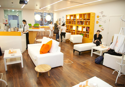 Clarins Daily Energizer pop-up shop - must-visit, coming soon, new, product, range, preview, facials, London Fashion Week, Marie Claire