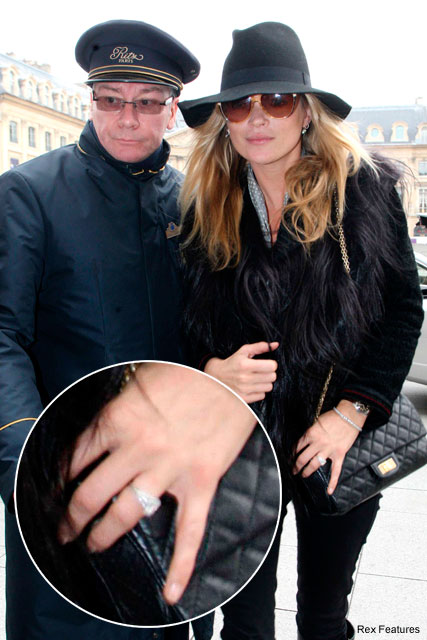 Kate Moss wearing engagement ring?