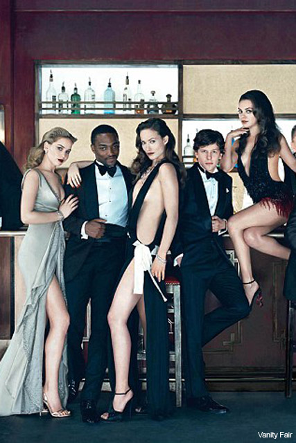 Vanity Fair Hollywood Issue cover - Anne Hathaway, Jake Gyllenhaal, James Franco, Ryan Reynolds, Olivia Wilde, Mila Kunis, Jennifer Lawrence, Noomi Rapace, see, pics, pictures, full, fold-out, Marie Claire