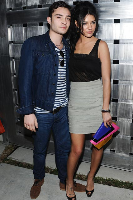 Ed Westwick and Jessica Szohr at the 2010 Superbowl Big Game Party