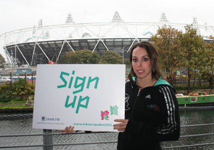 Beth Tweddle for the 2012 Olympics