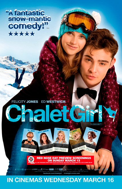 Chalet Girl competition - WIN, Twitter, twit, comp, competition, goody, bag, prize, Ed Westwick, Marie Claire