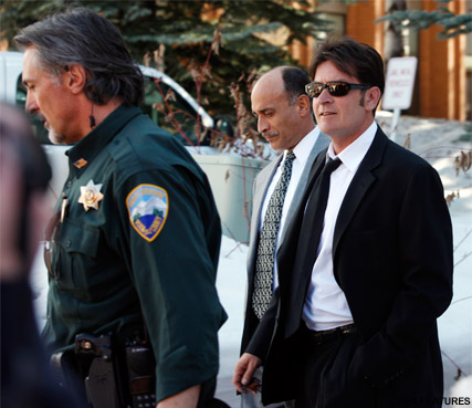 Charlie Sheen - Police storm Charlie Sheen?s Hollywood home  - Charlie Sheen News - Charlie Sheen Latest - Sheen - Charlie Sheen arrested - Celebrity News - Marie Clarie - Marie Claire UK