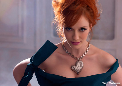 Christina Hendricks for Vivienne Westwood Palladium - Fashion, celebrity, news, Mad Men, actress, redhead, Marie Claire