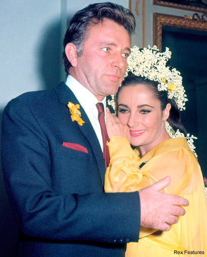 Elizabeth Taylor and Richard Burton on their wedding day in 1964