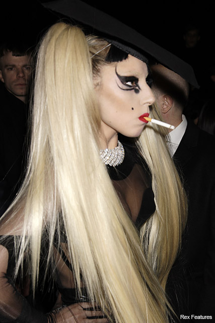 Lady Gaga - love or hate, new, black, fringe, bangs, Thierry Mugler, catwalk, Paris Fashion Week, twitter, twitpic, see, pics, pictures, hair, hairstyle, celebrity, beauty, Marie Claire