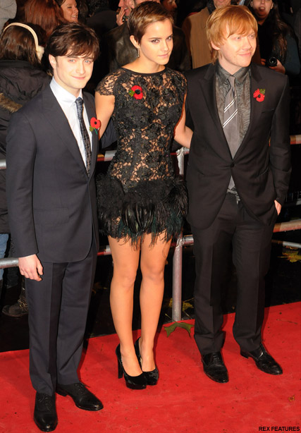 Emma Watson, Daniel Radcliffe and Rupert Grint - Harry Potter - Final Harry Potter film to have