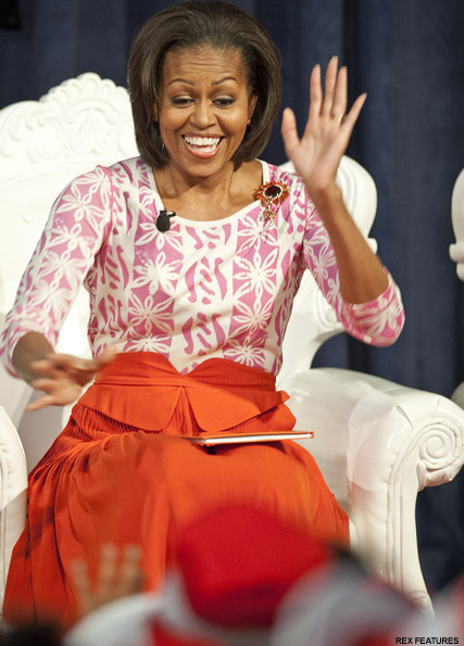 Michelle Obama - Jessica Alba and daughter Honour afternoon book club outing - Jessica Alba - Honor Marie - Read Across America Day - Michelle Obama - Celebrity News - Marie Claire UK - Marie Claire