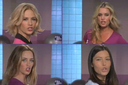 Jessica Alba - WATCH! Jessica Alba, Emily Blunt and Scarlett Johansson pile on the pounds in hilarious TV sketch - Jimmy Kimmel - Marie Claire - Marie Claire UK