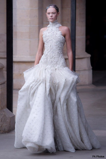 Alexander McQueen Autumn/Winter 2011 - Kate Middleton, royal wedding, dress, bridal, gowm, McQueen, inspired, wedding, Prince William, design, Sarah Burton, fashion, Marie Claire