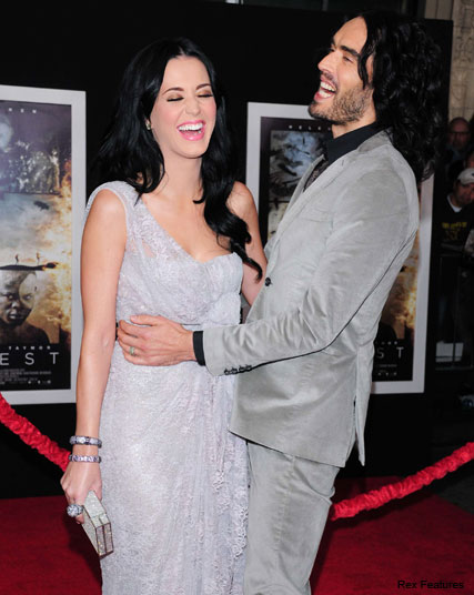 Russell Brand Katy Perry - Katy Perry quashes split rumours with saucy message to Russell Brand - Katy Perry - Russell Brand - Katy Perry Wedding - Celebrity News - Marie Claire