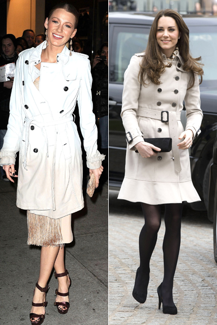 Kate Middleton and Blake Lively - Who wore Burberry best?