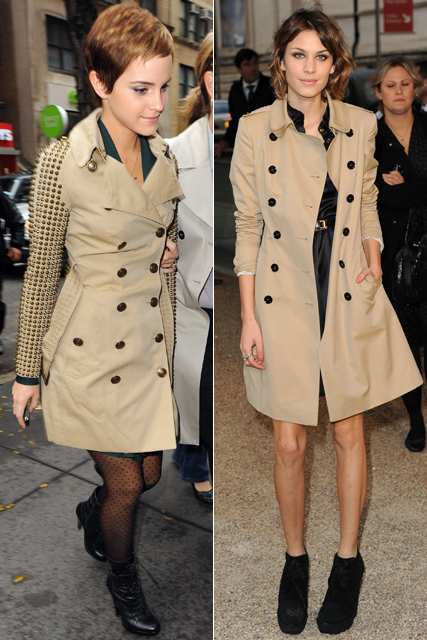 Emma Watson and Alexa Chung - Who wore Burberry best?
