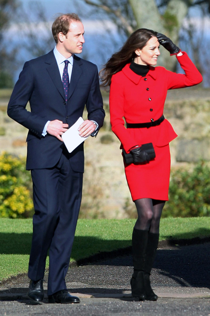 Prince William and Kate Middleton visit St Adrews