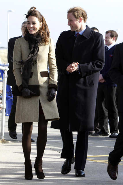 Kate Middleton and Prince William first official engagement - dedication for a new RNLI lifeboat  in Anglesey