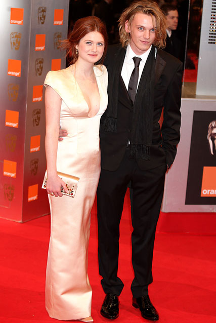 Bonnie Wright and Jamie Campbell Bower - 2010 BAFTAs red carpet - Marie Claire