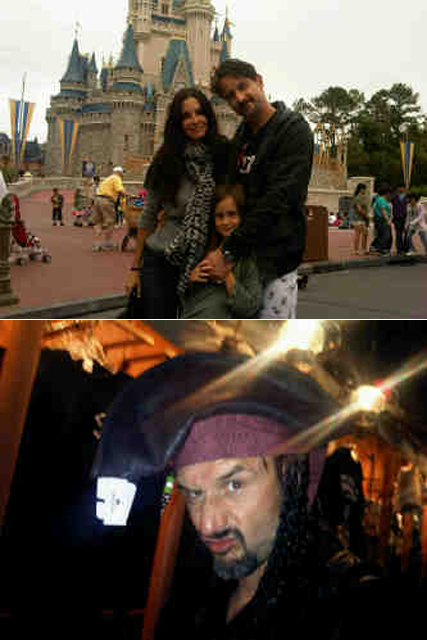 Courteney Cox and David Arquette with Coco at Disney Land