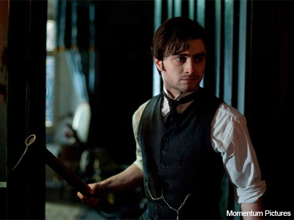 Daniel Radcliffe in The Woman in Black Crop - axe, Marie Claire, film, stills