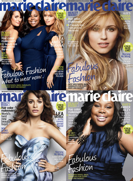 Marie Claire Glee - PICS! The Glee girls? gorgeous Marie Claire cover  - Glee - Cover - Marie Claire - Marie Claire US