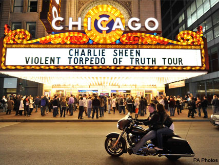 Charlie Sheen - Charlie Sheen Live Tour - Charlie Sheen Torpedo of Truth tour - Charlie Sheen Two and a Half Men - Charlie Sheen sacked - Marie Claire - Marie Claire UK