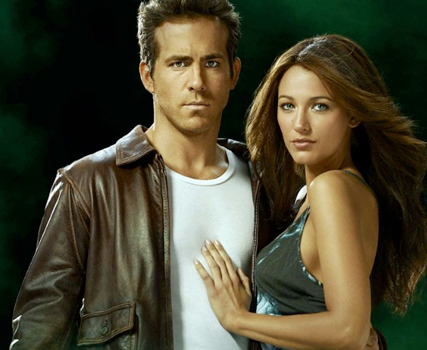Blake Lively and Ryan Reynolds in Green Lantern