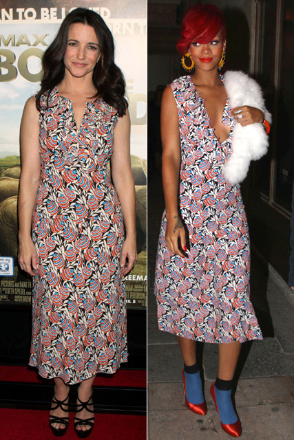 Kristin Davis vs Rihanna  - who wore it best?